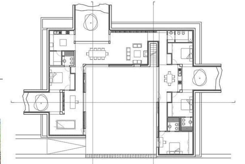 Floor plan of Tenuta Silente in Puglia