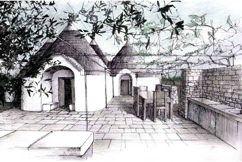 Drawing of Martellotta