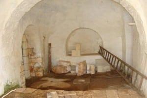 Interior of Martellotta, restoring trullo project for sale