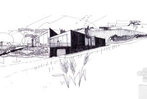 Drawing of a house project for sale in Puglia