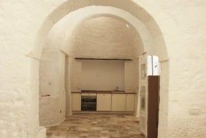 Interior desing of restored trullo in Puglia