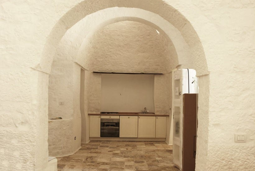 Interior desing of restored trullo in Puglia