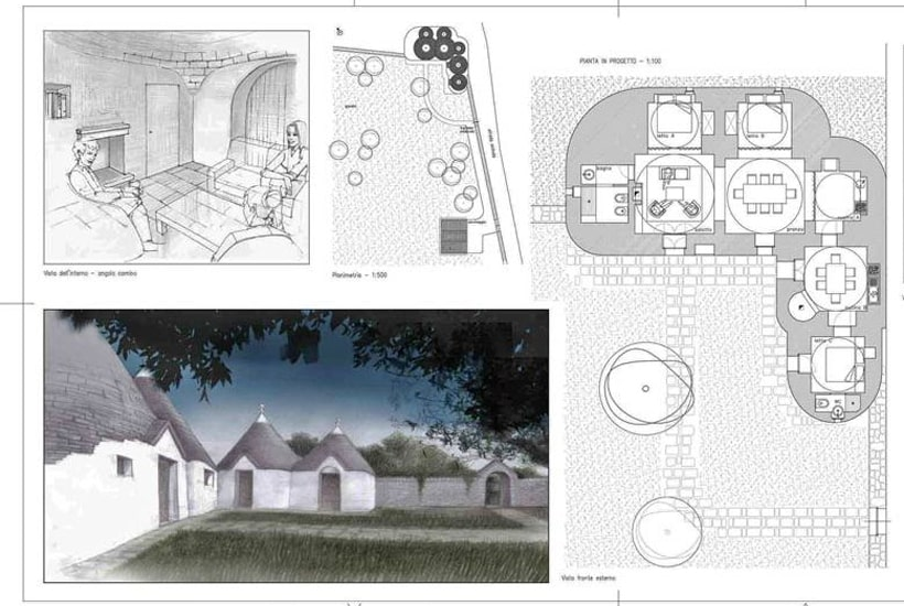 Plot of restored trullo in Puglia
