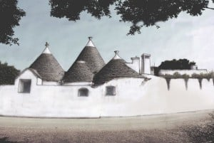 Backview of restored trullo in Ceglie Messapica