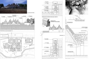 Drawing of the restored trullo turnkey property in Cisternino