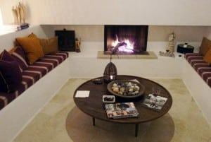 Fireplace interior in Trullo dei Monaci