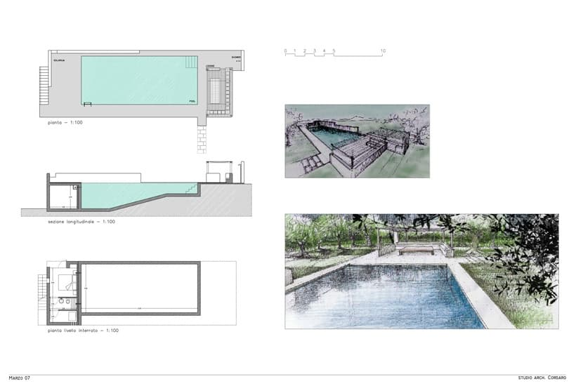 Design of Casa Zippitello, restored house with swimming pool