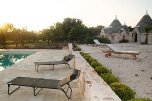 Outodoor of a restored farmhouse for rent in Cisterino, Puglia