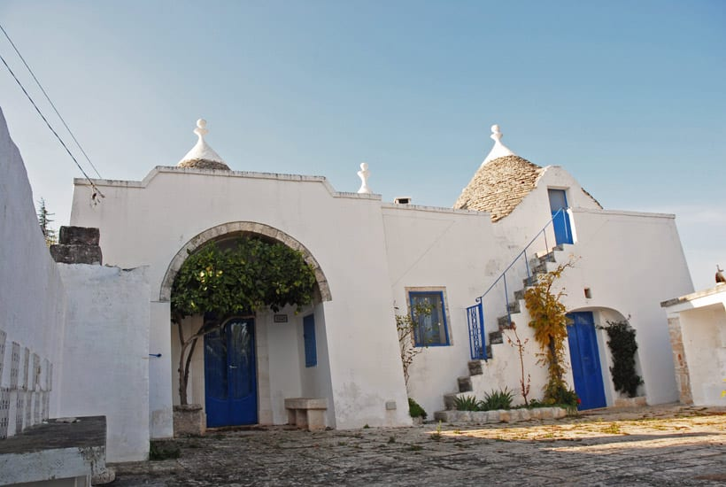 restored trullo with swimming pool in Itria Valley
