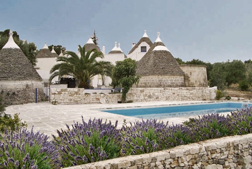 Swimming pool restored trullo in Itria Valley
