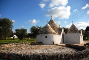 restored trulli in Ostuni