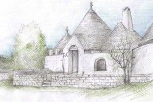 Trulli Chiobbica restoring: drawing