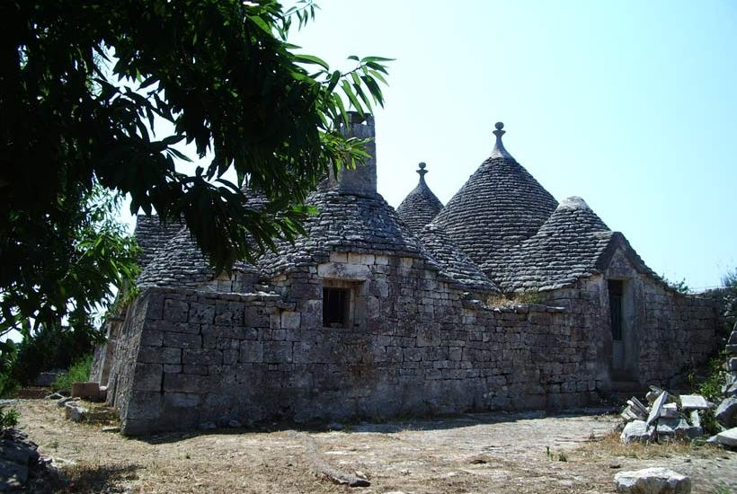 View of the trullo before restoring
