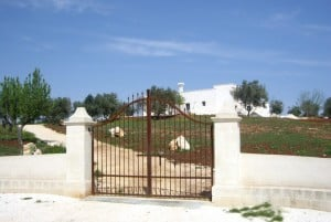 Casa Ulmo's entrance. restored farmhouse in Ceglie Messapica, Puglia