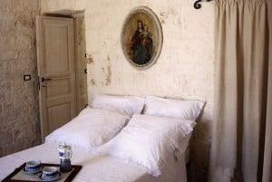 Bedroom in Casa Ulmo, restore masseria in Ceglie Messapica, Puglia