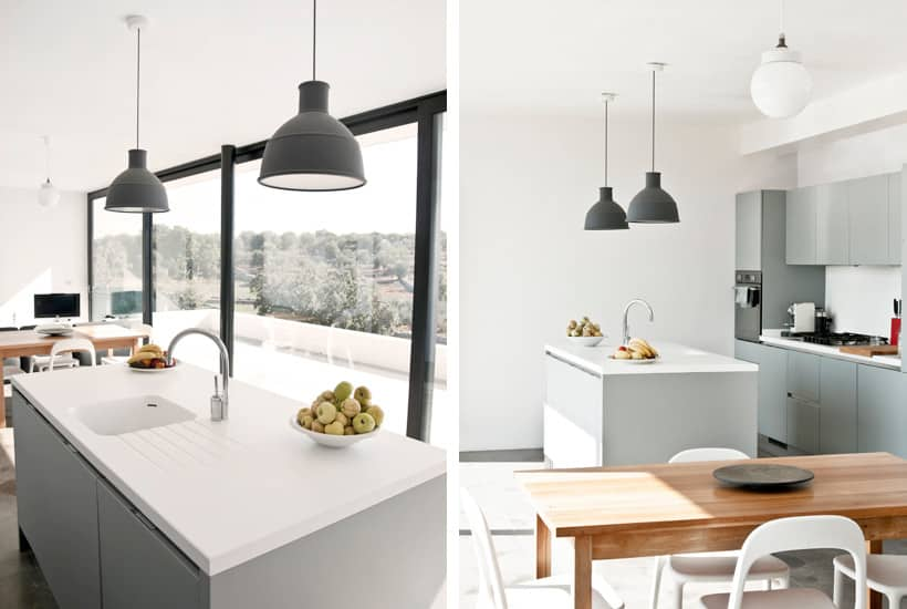 Kitchen and interior design of a news build house in Puglia