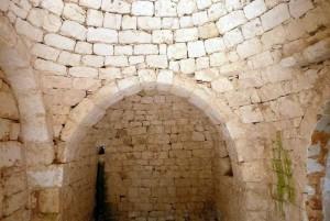 Interiors of Melarosa, restoring trullo project for sale in Cisternino