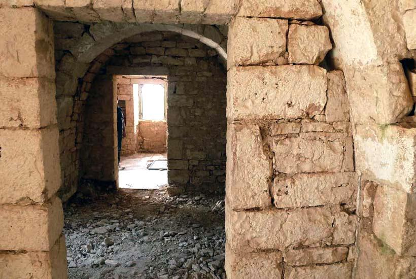 Interiors of Melarosa, restoring trullo project for sale in Cisternino