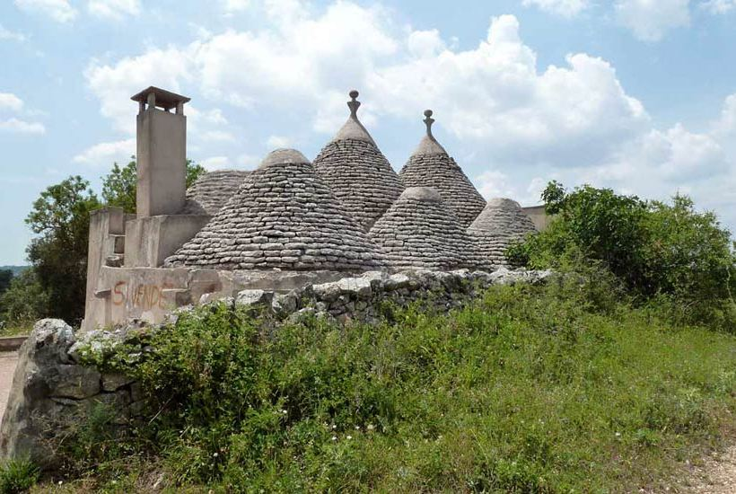Melarosa, restoring trullo project for sale in Cisternino