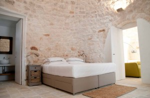 Master bedroom in a trullo