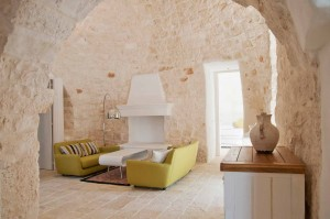 Living room in a trullo
