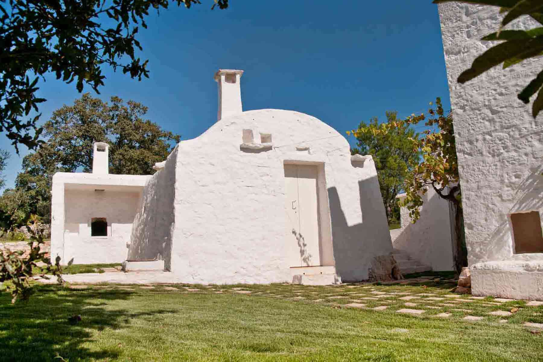 View of trullo Kasba in Ostuni