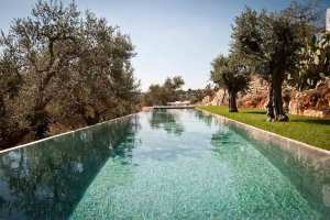 Trullo restored with swimming pool in Ostuni in Puglia