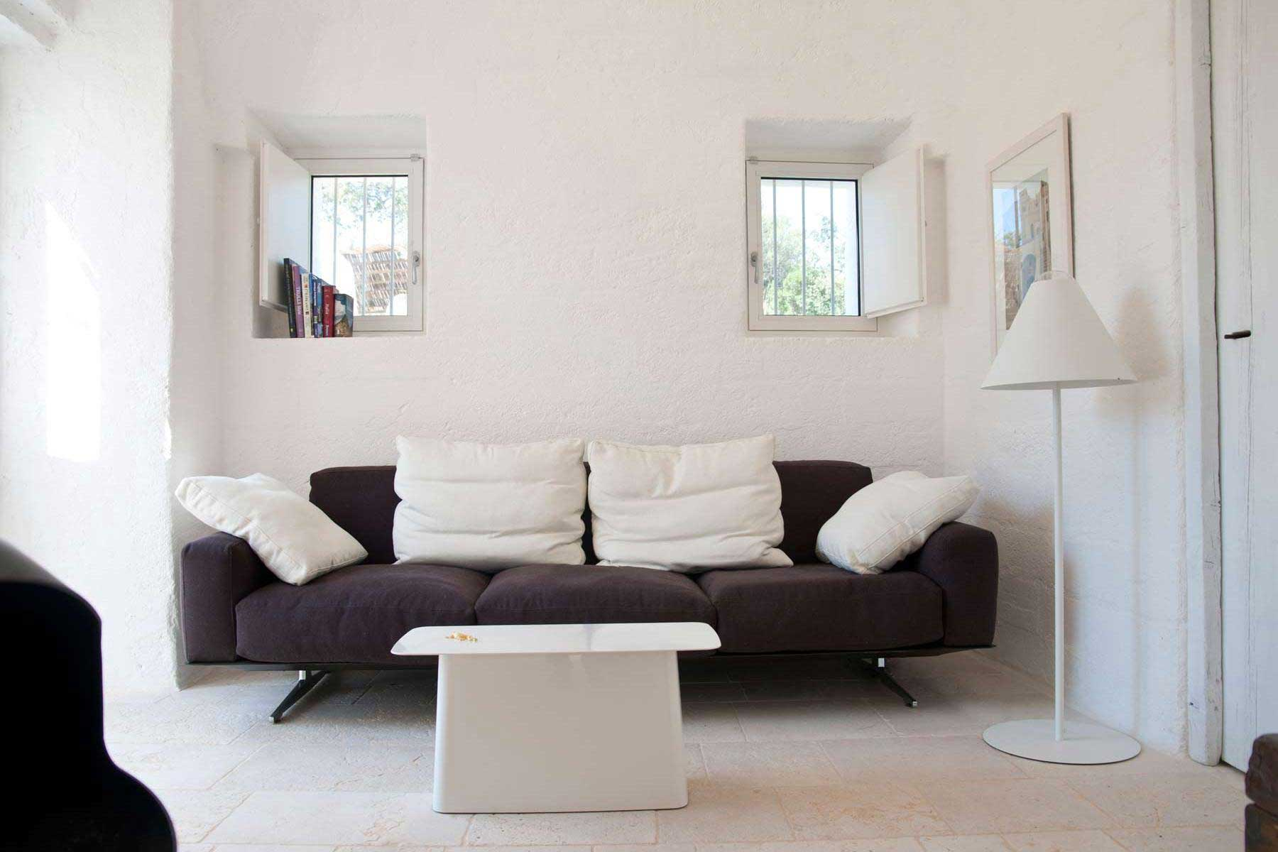 Living room: we plan for you project for your house to buy in Puglia Valle d'Itria
