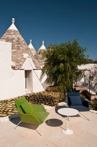 Beautiful view from the Kasba Trullo in Ostuni