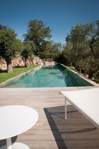 Another view of the swimming pool in trullo Kasba in Ostuni.