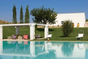 Swimming pool in apulian typical farmhouse
